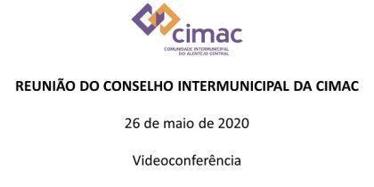 Reunião do Conselho Intermunicipal da CIMAC | 26 de maio de 2020