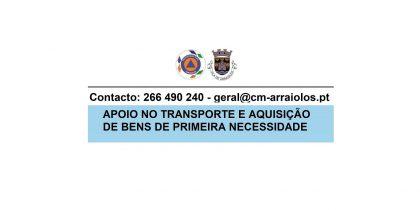 (Português) Apoio no transporte de bens essenciais, como sejam alimentos, produtos de higiene e medicamentos